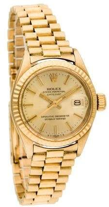 72ae4ad91be yellow gold Rolex Datejust watch featuring automatic movement with date  complications