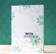 Simple stamped around the edges Sympathy card by L. Bassen