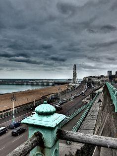 Bitterly cold, dark, gloomy day in Brighton