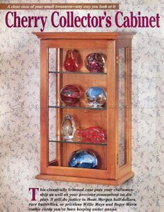 #1273 Collectors Display Cabinet Plans - Furniture Plans