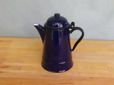A 1970s era vintage blue enamelware coffee by KittysVintageVault, £14.00