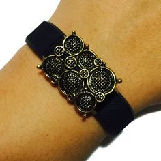 Fitbit Alta, Fitbit Flex Jewelry to Accessorize Your Fitness Activity Tracker Bracelet - Aged Gold Rhinestone Studded Stone MIAMI Charm Bracelet Accessory (Various Stone Colors) (Aged Gold). This beautiful charm is handmade to order. It is designed to be snugly secured against your fitness tracker to amplify your look! Instead of wearing a sporty and bare plastic Fitbit Charge, Fitbit Charge HR, Fitbit Alta or Fitbit Flex band, add to your unique style with the bracelets of Weekend...
