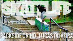 Backside Grind | Tutorial #SKATELIFE | Lucas Oliveira - http://DAILYSKATETUBE.COM/backside-grind-tutorial-skatelife-lucas-oliveira/ - Backside Grind | Tutorial #SKATELIFE | Lucas Oliveira Nesse tutorial, o skatista Lucas Oliveira dá as dicas do Backside Grind.  O vídeo foi gravado na Praça da Ladeira da Morte, em São Paulo. Um pico clássico da cidade, onde os próprios skatistas estão sempre construindo obstáculos para andar. Enco - backside, grind, lucas, oliveira, sk