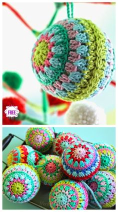 Breathtaking Crochet So You Can Comprehend Patterns Ideas. Stupefying Crochet So You Can Comprehend Patterns Ideas. Diy Christmas Baubles, Crochet Christmas Decorations, Crochet Christmas Ornaments, Christmas Knitting, Christmas Balls, Christmas Wreaths, Crochet Ornament Patterns, Christmas Crochet Patterns, Holiday Crochet