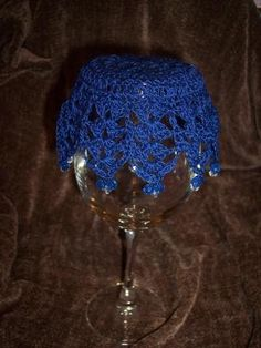 Crochet glass covers