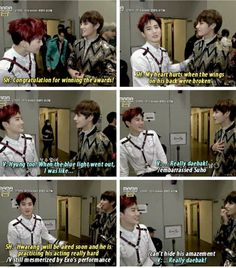 EXO's Suho and BTS' V - so cute! Suho Exo, Exo K, Bts And Exo, Taehyung And Baekhyun, Tired, About Bts, Kpop Groups, Crying, Bts Boys