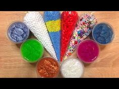 Here is my newest satisfying video where I am adding too much things into slime, relaxing sounds, crunchy slime. Sliming World, How To Make Slime, Satisfying Video, Diy Slime, Diy Wedding, Asmr, Make It Yourself, Youtube, Makeup