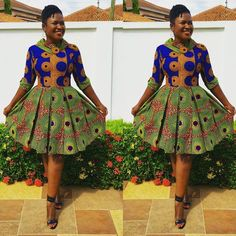 Online Hub For Fashion Beauty And Health: Stylishly Creative Ankara Short Gown Style For The Cuties African Dresses For Women, African Print Fashion, Africa Fashion, African Attire, African Wear, African Fashion Dresses, African Women, African Prints, African Style