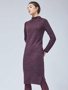 Платье из шерстяного джерси с молниями charuel