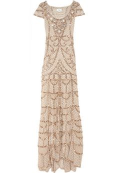 Long Poison Embellished Tulle Gown by Temperley London.