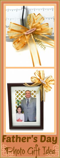 Father's Day Frame Gift with Bowdabra Bow