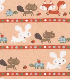 Snuggle Flannel Fabric Baby Woodland Stripe