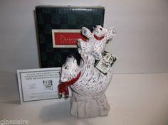 Vintage-1994-David-Frykman-POLAR-BEAR-And-CUB-Sculpture-BOXED-Tags
