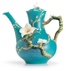 Franz Porcelain Van Gogh Almond Flower Teapot. Yesss I really want this one for my birthday! Please???