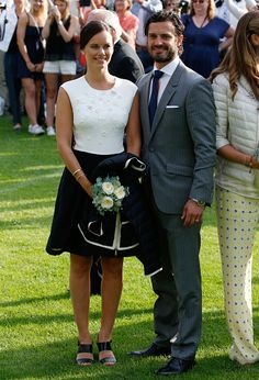 Princess Sofia of Sweden and Prince Carl Philip of Sweden attend a concert to celebrate the 38th birthday of Crown Princess Victoria of Sweden at Borgholm on July 14, 2015 in Oland, Sweden.