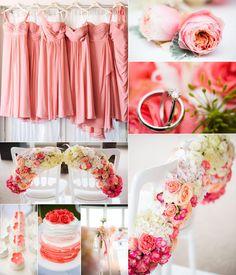 coral wedding idea