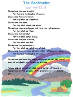 the beatitudes for children | ... need in our household to re ...