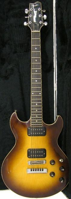 1980s Fender Flame double cut Guitar Lardys Chordophone of the day 2017 --- https://www.pinterest.com/lardyfatboy/