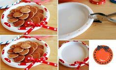 DIY Ribbon Wreath Plate