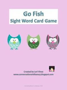 $1.00 Another fun way to build sight word fluency with your students!  This Go Fish card game can be used in a literacy center, as an option during free ...