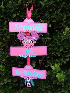 Sesame Street Party Sign with Abby Cadabby by YourPartyShoppe, $20.00