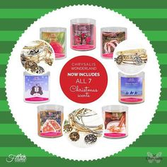 Tonight at 7pm est our Pink Flame Wonderland collection #candles will be available in all of our 7 different #Christmas scents! Choose your scent choose your #Chrysalis bangle bracelet color and choose your holiday charm!  http://ift.tt/1mLfunp