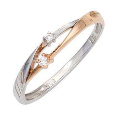 Damen Ring 585 Gold Weißgold Rotgold bicolor 2 Diamanten Goldring Gr.50-60 http://www.ebay.de/itm/Damen-Ring-585-Gold-Weissgold-Rotgold-bicolor-2-Diamanten-Goldring-Gr-50-60-/162568293093?ssPageName=STRK:MESE:IT #damenring#goldring#diamanten