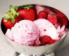 Dessert: Double Berry Ice Cream (76 calories) Needs an ice cream maker