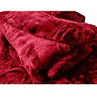 SRS Maroon Floral Double Bed Mink Blanket with Complimentary Stylish Bag Double Bed Size, Double Beds, Winter Blankets, Bed Sizes, Wool Blend, Home Furniture, Throw Pillows, Brown, Floral