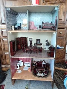 Homemade Obsessions: Dresser Turned Dollhouse ... Recycle Unwanted Furniture!