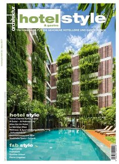 hotel facade vo trong nghia drapes layer of greenery to balconies of atlas hotel vietnam Hotel Architecture, Green Architecture, Sustainable Architecture, Residential Architecture, Contemporary Architecture, Landscape Architecture, Building Facade, Green Building, Building Design