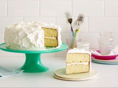 Classic Vanilla Cake Recipe : Food Network Kitchen : Food Network - FoodNetwork.com