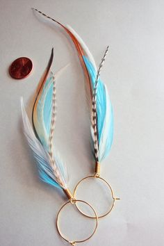 boucles plumes de Martin-pêcheur bleu par MayFlyShop sur Etsy https://www.etsy.com/fr/listing/83227377/boucles-plumes-de-martin-pecheur-bleu