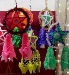 Party Hanging Pentagram Lamp Shade Decorations Xmas Tree Home Decor Christmas Tree Ornament Random Color Do You Want To Buy Some Chinese Native Produce? Christmas