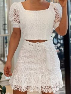 That Look, Two Piece Skirt Set, Crop Tops, Skirts, Pattern, Outfits, Dresses, Casual Gowns, Women's Blouses