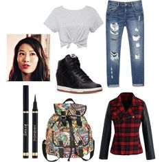 Teen Wolf- Kira Yukimura Inspired Outfit by lili-c on Polyvore featuring Chicwish, Zara and NIKE