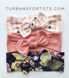 Splash of Color Set  Top Knots Baby Headbands Set
