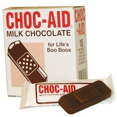 Choc-aid: Chocolate Band-Aids 2.7 Oz Box – 3 « Lolly Mahoney