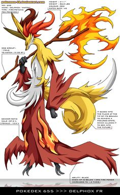 Pokedex 655 - Delphox FR by Pokemon-FR.deviantart.com on @deviantART