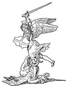 St Michael Catholic Coloring Page