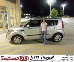 #HappyAnniversary to Ann Malkie on your 2012 #Kia #Soul from Larry Upton at Southwest KIA Rockwall!