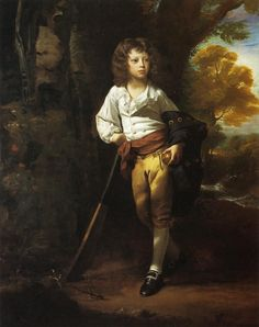 1780's... ties on the side of the breeches  John Singleton Copley (1737-1815)  Richard Heber 1782