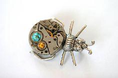 zzuzzi / Steampunková brošňa chrobáčik