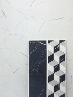 graphic marble-look tiles by 41Zero42