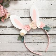 Some bunny is one, Bunny Headband, bunny outfit, bunny Ears- flower Bunny Headband- Rabbit Headband- Felt Flower Headband-Baby bunny Bunny Birthday, Girl Birthday Themes, Baby Girl Birthday, Kids Headbands, Baby Flower Headbands, Bunny Ears Headband, Headband Baby, 1st Birthday Photoshoot, Bunny Party