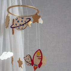 Космический ребенок мобильный Детский мобильный Детский   Etsy Space Theme, Space Space, Planet Mobile, Unique Baby Gifts, Wooden Blocks, Craft, Nursery Decor, Themed Nursery, Decoration