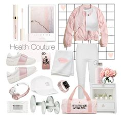 """""""Health Couture"""" by fashionstudiolondon ❤ liked on Polyvore featuring Hollister Co., Body Rags, Sweaty Betty, Bungalow 5, CB2, Kate Spade, Stila, Allstate Floral, ban.do and Valentino"""