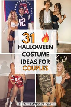 These creative couple costumes are genius!! I'm so happy I found these college Halloween costume ideas couples will LOVE! #Halloween College Halloween Costumes Guys, Scary Couples Costumes, Funny Couple Costumes, Halloween Kostüm, Creative Couple Costumes, Halloween Office, Halloween Recipe, Halloween Couples, Halloween Desserts