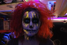 Calavera colorida Artista: Marcela Leal Halloween Face Makeup, Artistic Make Up, Atelier, Hair, Artists