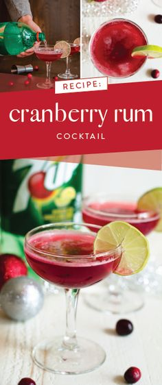 Embrace the flavor of the holiday season by making this Cranberry Rum Cocktail recipe with 7UP® & a bit of homemade cranberry reduction! Whether it's a mocktail or a boozy drink you're looking for, this festive drink idea will knock it out of the park with flavor & presentation—plus, it even comes with helpful entertaining tips. Pick up all the ingredients you need to get ready for party guests at Safeway or Albertsons Companies! Must be 21 or older to consume alcohol. Please drink